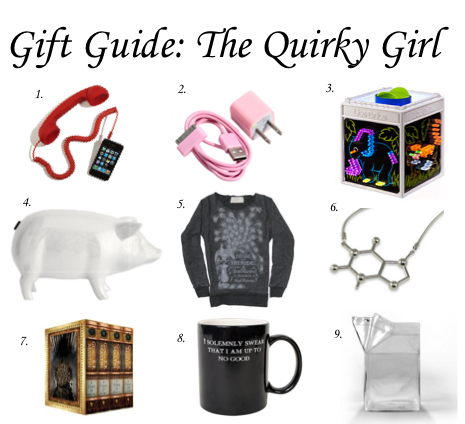 Gift guide the quirky girl hitha on the go for Quirky retro gifts