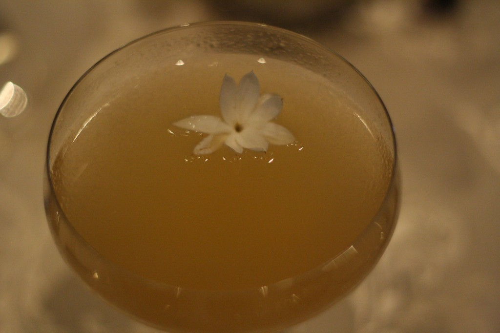 Jasmine Sour, the signature cocktail at the restaurant –