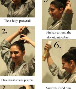 How To - Sock Bun Hairstyle