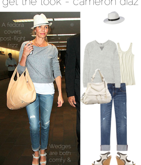 get the look cameron diaz travel style