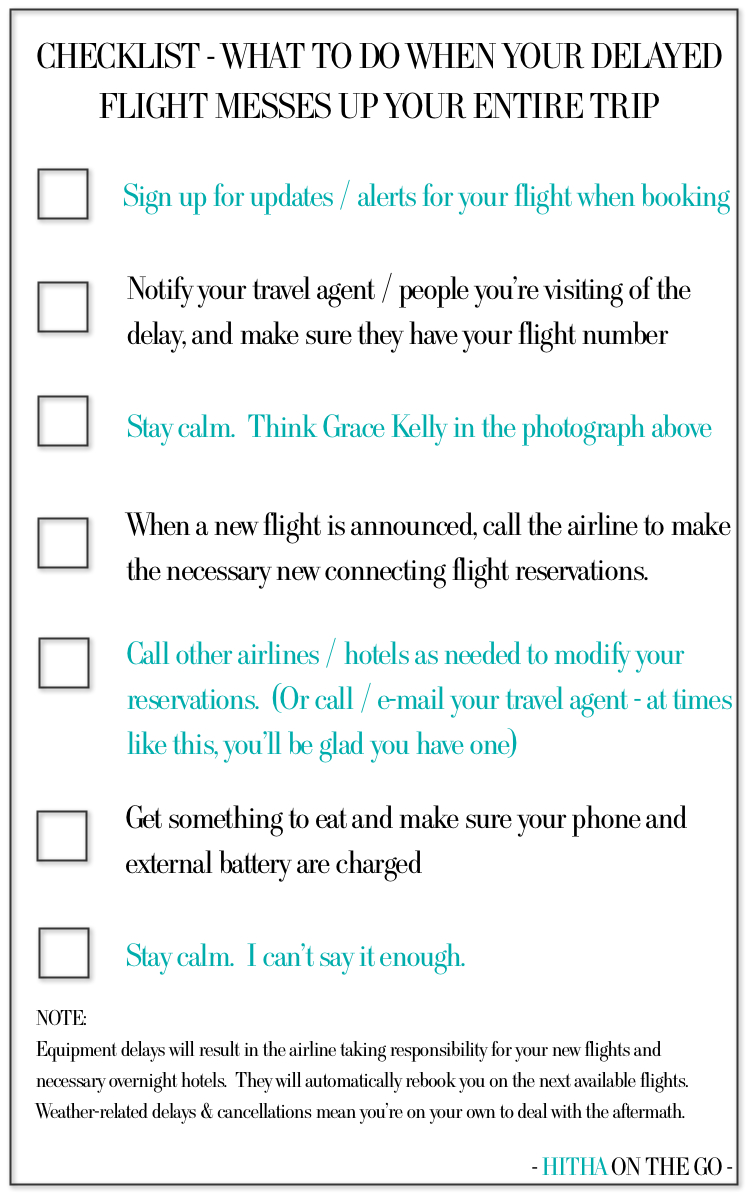 CHECKLIST - WHAT TO DO WHEN A DELAYED FLIGHT MESSES UP YOUR ENTIRE TRIP
