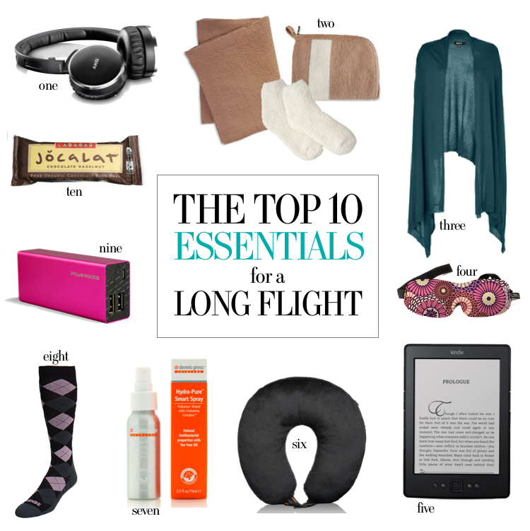 top 10 essentials for long flights