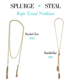 Splurge or Steal Rope Tassel Necklace