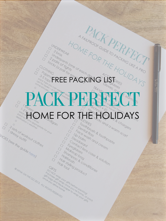 pack perfect home for the holidays