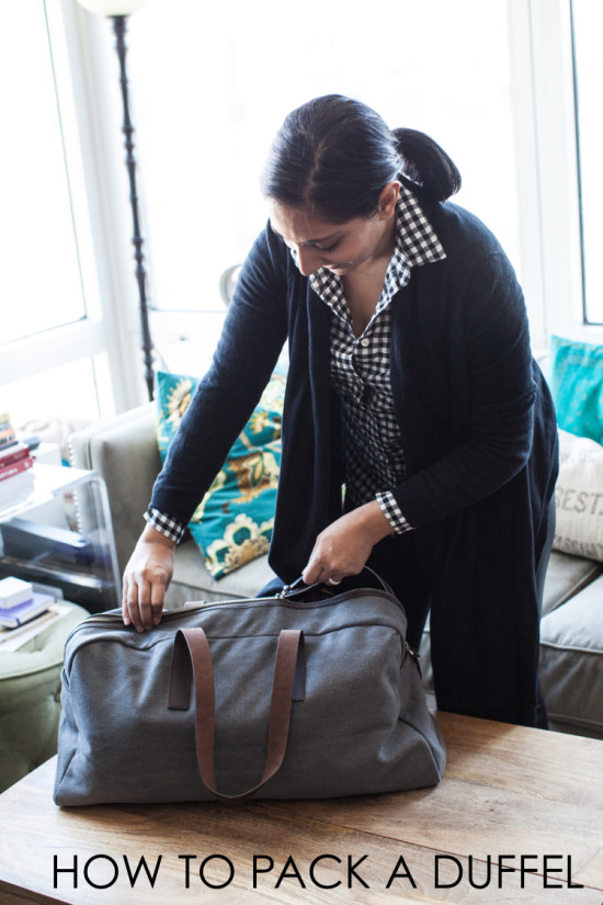 how to pack a duffel