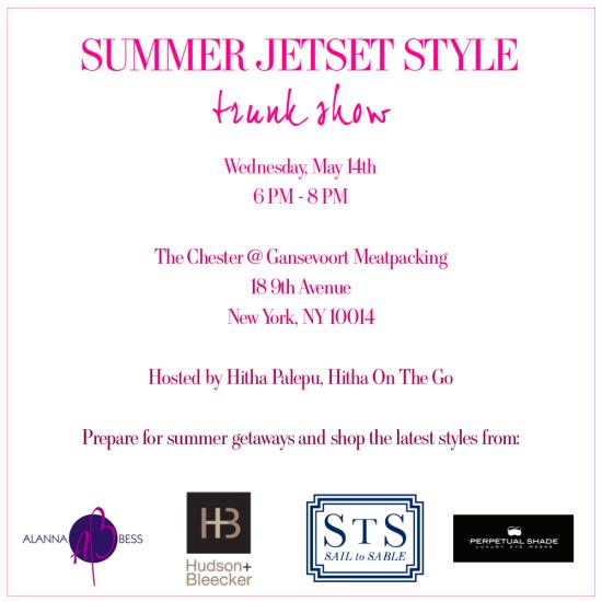 Summer Jetset Style Trunk Show Invitation