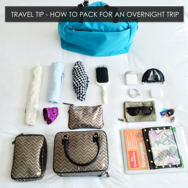 Travel tip packing for an overnight trip hitha on the go How to pack a carry on suitcase video