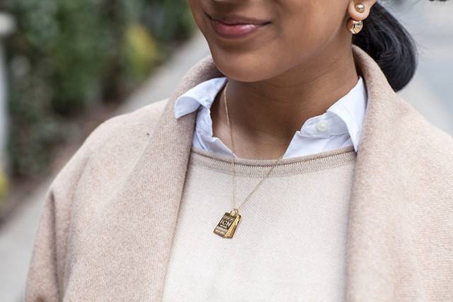Luggage Tag Necklace