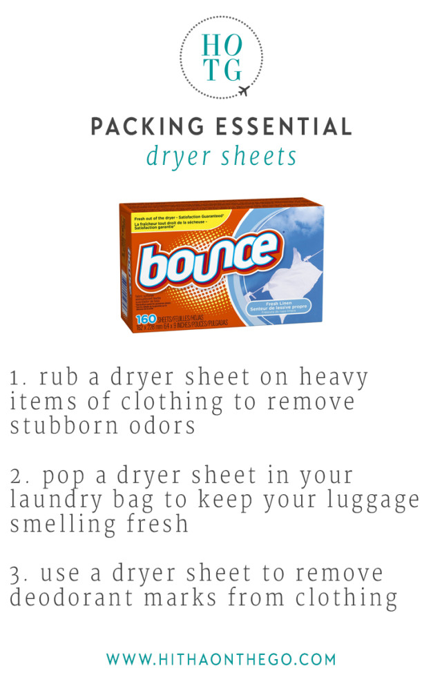 Packing Essential Dryer Sheet