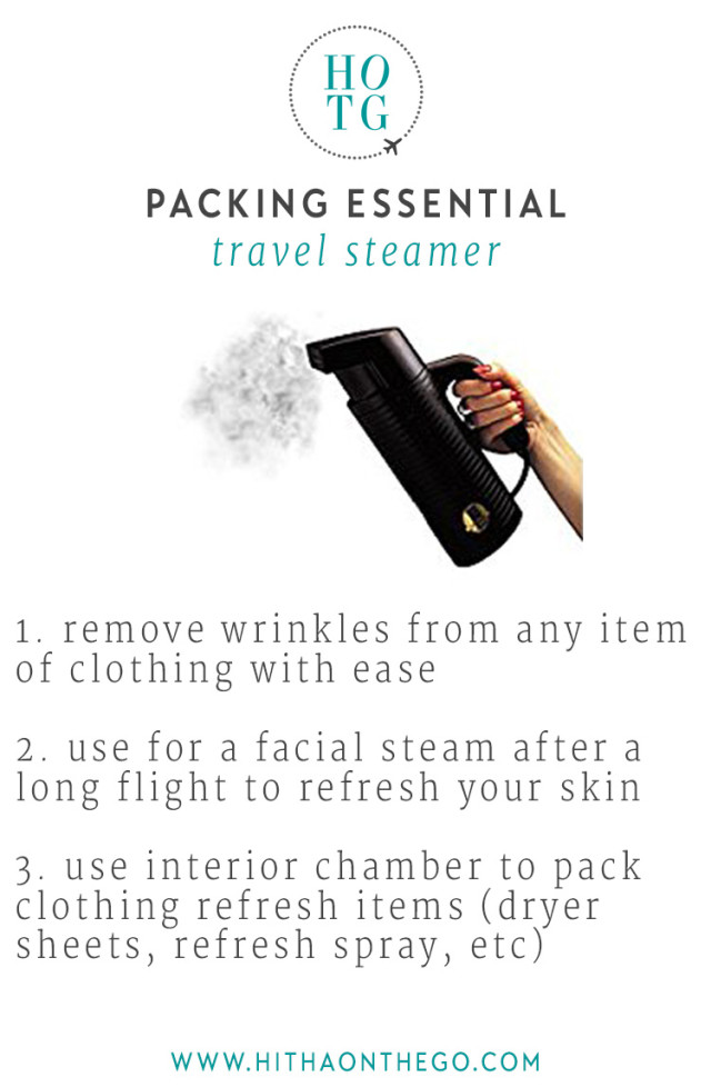 Packing Essential Travel Steamer