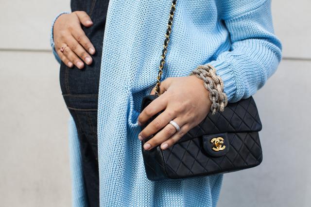 Pave bracelets quilted bag