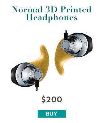 Normal 3D Printed Headphones