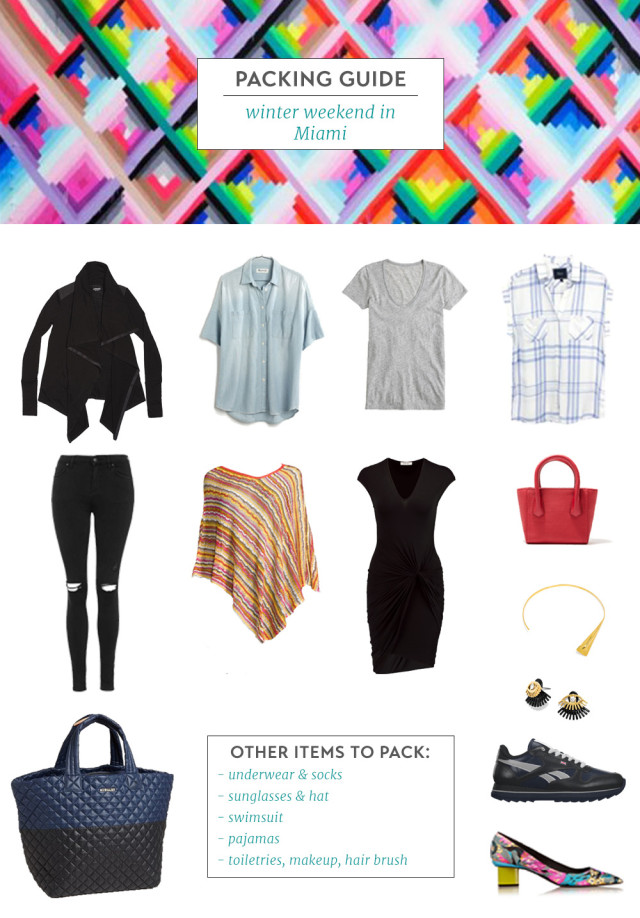 Packing Guide - Winter Weekend in Miami