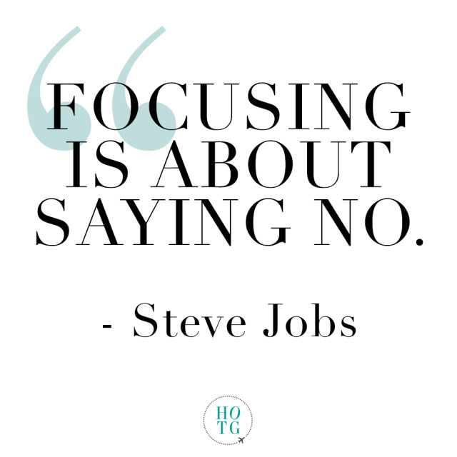 Steve Jobs on Saying No