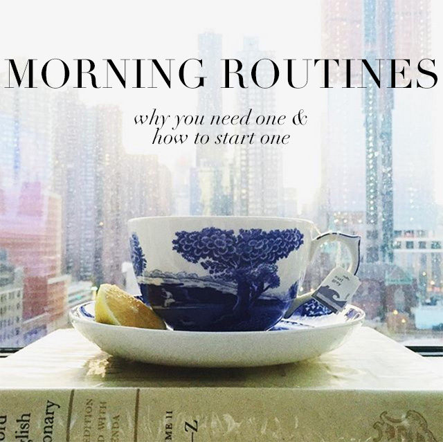 morning routine for busy women