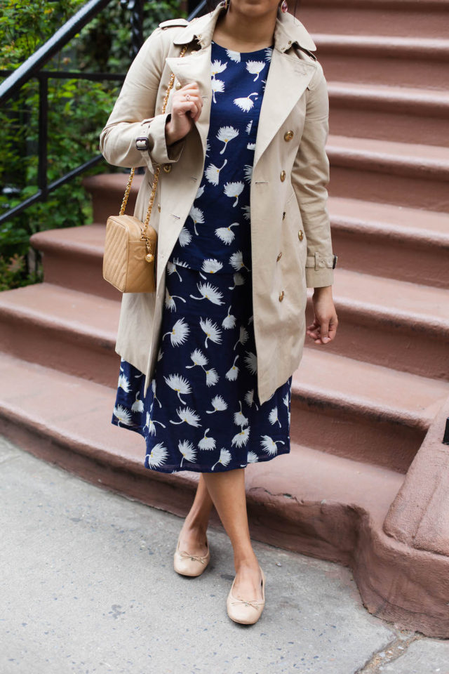 Tan and Navy Spring Outfit