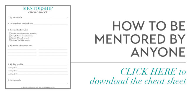 How To Be Mentored By Anyone Worksheet Download