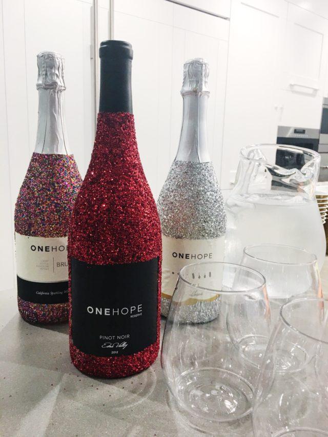 ONEHOPE Wine Glitter Bottles