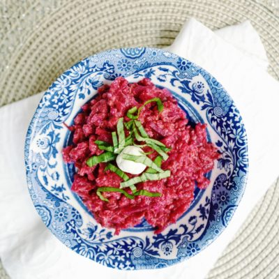 How To Make Risotto with Beets and Rosé